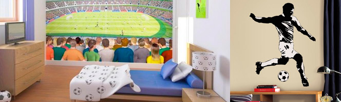 chambre football d co chambre th me football sur bebegavroche. Black Bedroom Furniture Sets. Home Design Ideas