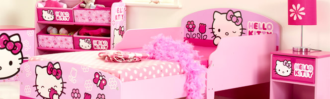 d co chambre fille hello kitty