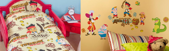 Chambre enfant Jake le pirate Disney