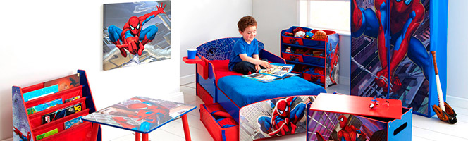 chambre spiderman marvel d co spiderman sur bebegavroche. Black Bedroom Furniture Sets. Home Design Ideas