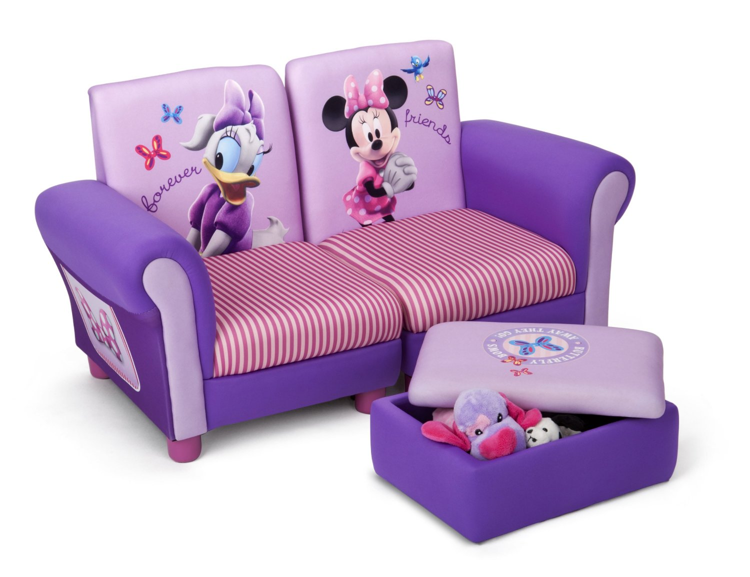 neuf canap club divisible et repose pied de rangement minnie mouse disney ebay. Black Bedroom Furniture Sets. Home Design Ideas