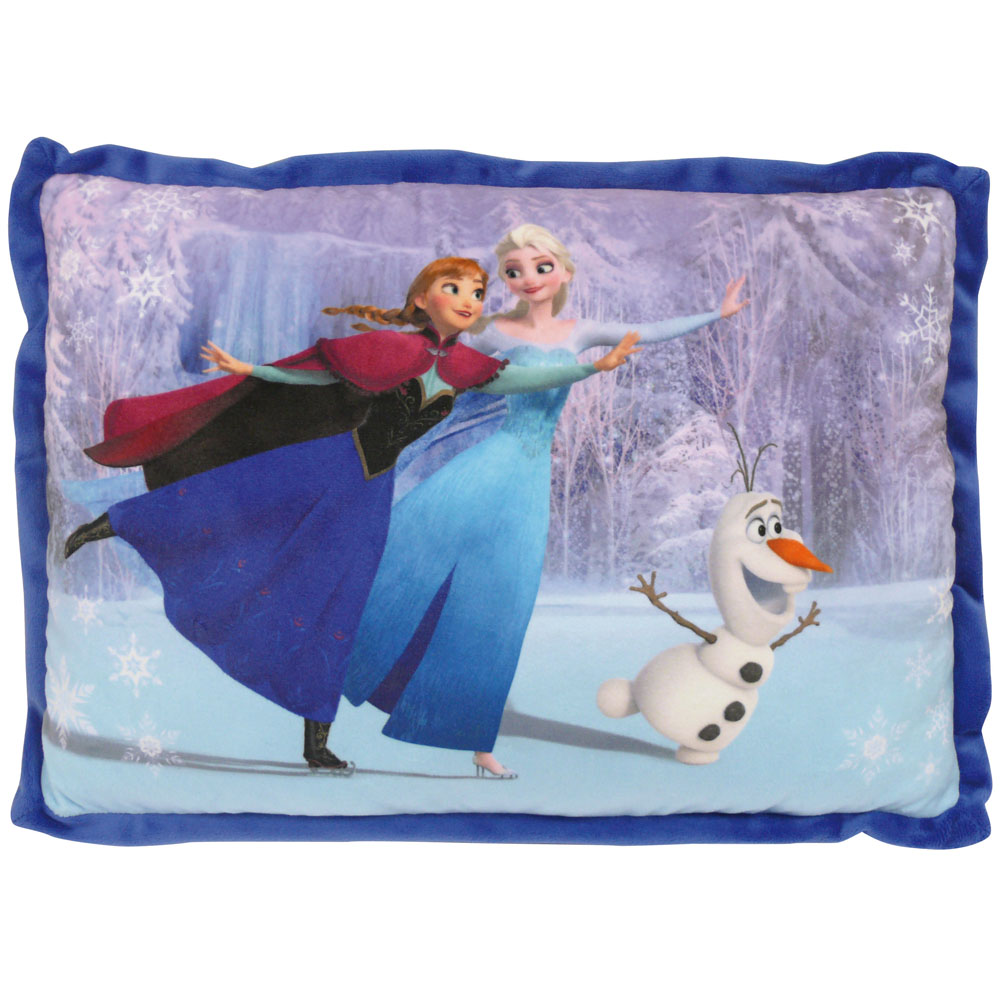 neuf coussin bleu la reine des neiges disney ebay. Black Bedroom Furniture Sets. Home Design Ideas