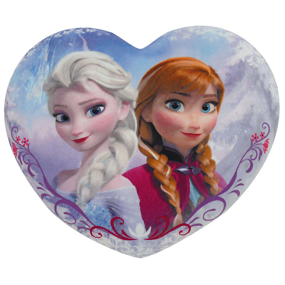 neuf coussin coeur la reine des neiges disney. Black Bedroom Furniture Sets. Home Design Ideas