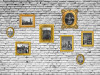 Pictures on the wall, photo murale, 360x255 cm, 4 parts