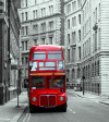 London bus, photo murale, 180x202 cm, 2 parts