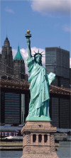The Statue of Liberty, paper photo mural, 90x202 cm, 1 part
