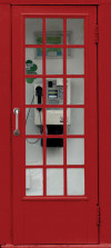 Phone booth, paper photo mural, 90x202 cm, 1 part