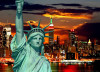 Statue of Liberty at Sunset, photo murale intissée, 160x110 cm, 1 part