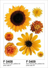Sun flower big, Grand sticker mural 65 x 85 cm