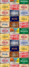 US License plates, Papier peint, 0,53m x 10,05m