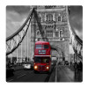 London Bus, Photo pour accrocher au mur faite en plexiglass 19 x 19 cm