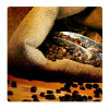 Coffee beans, Photo pour accrocher au mur faite en plexiglass 19 x 19 cm