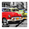 Cuba cars, Photo pour accrocher au mur faite en plexiglass 19 x 19 cm