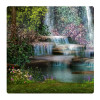 Waterfalls, Photo pour accrocher au mur faite en plexiglass 29 x 29 cm