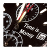 Time is money, Photo pour accrocher au mur faite en plexiglass 29 x 29 cm