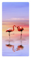 Flamingo, Photo pour accrocher au mur faite en plexiglass 29 x 55 cm vertical