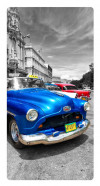 Blue car, Photo pour accrocher au mur faite en plexiglass 29 x 55 cm vertical