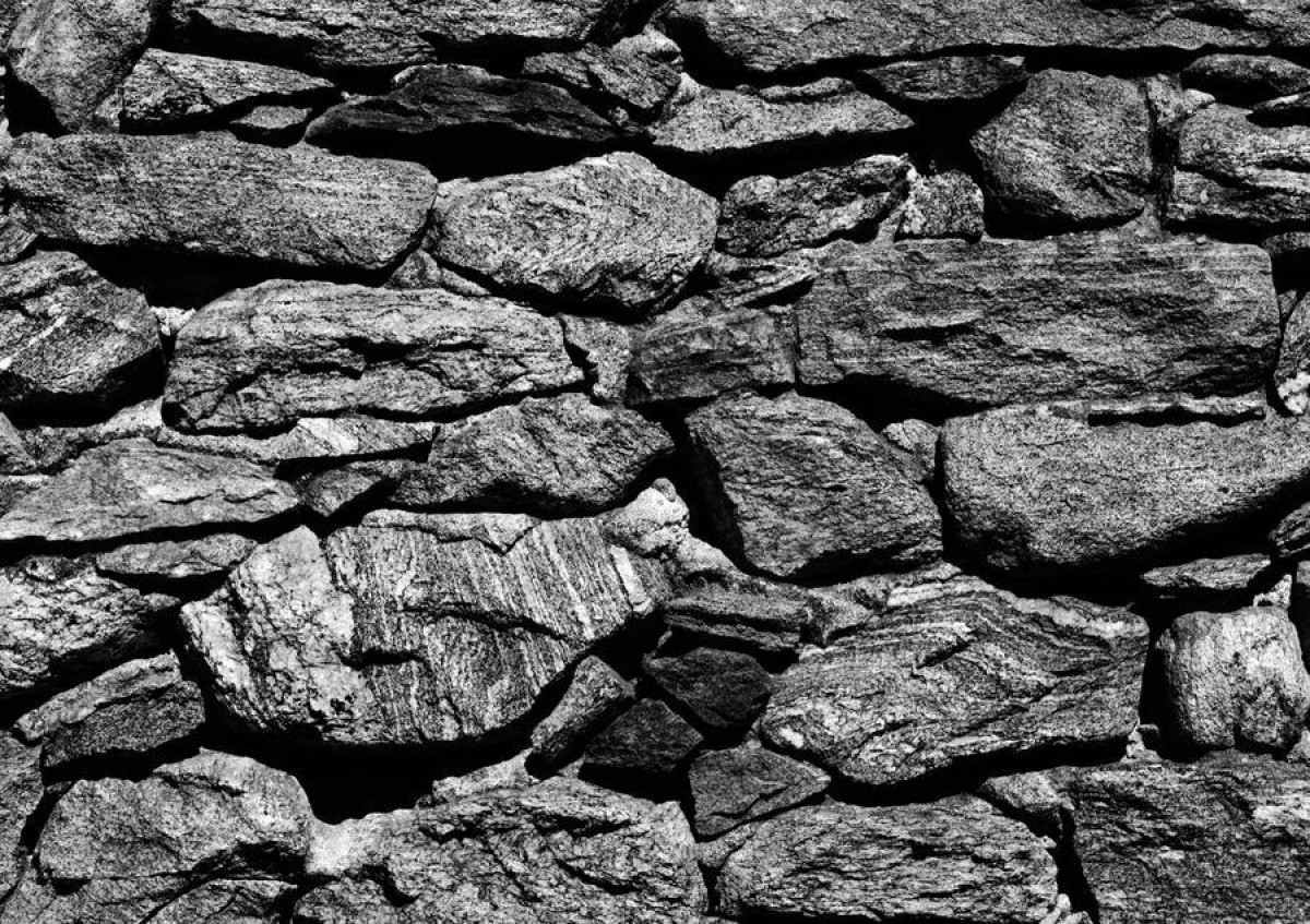 Stone wall, photo murale, 360x254 cm, 4 parts