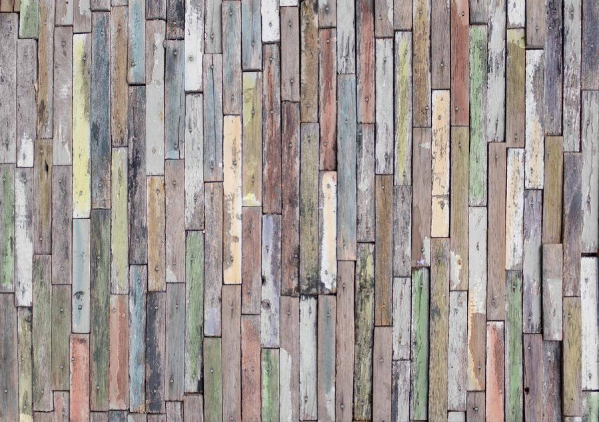 Wooden wall, photo murale, 360x254 cm, 4 parts