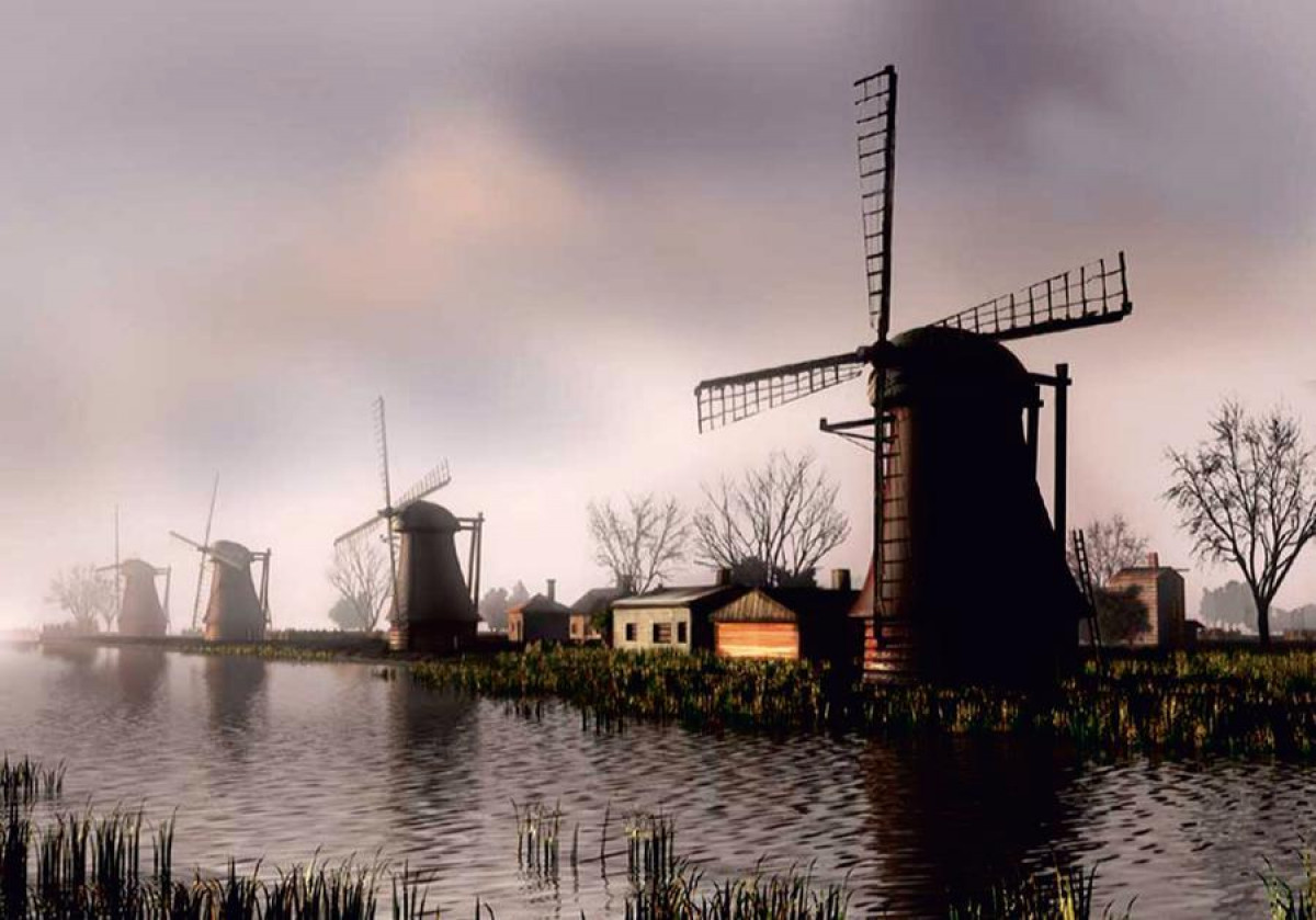 Mill, photo murale, 360x255 cm, 4 parts