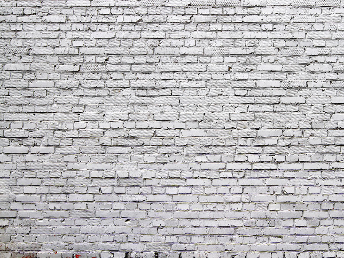 White bricks , photo murale, 360x255 cm, 4 parts
