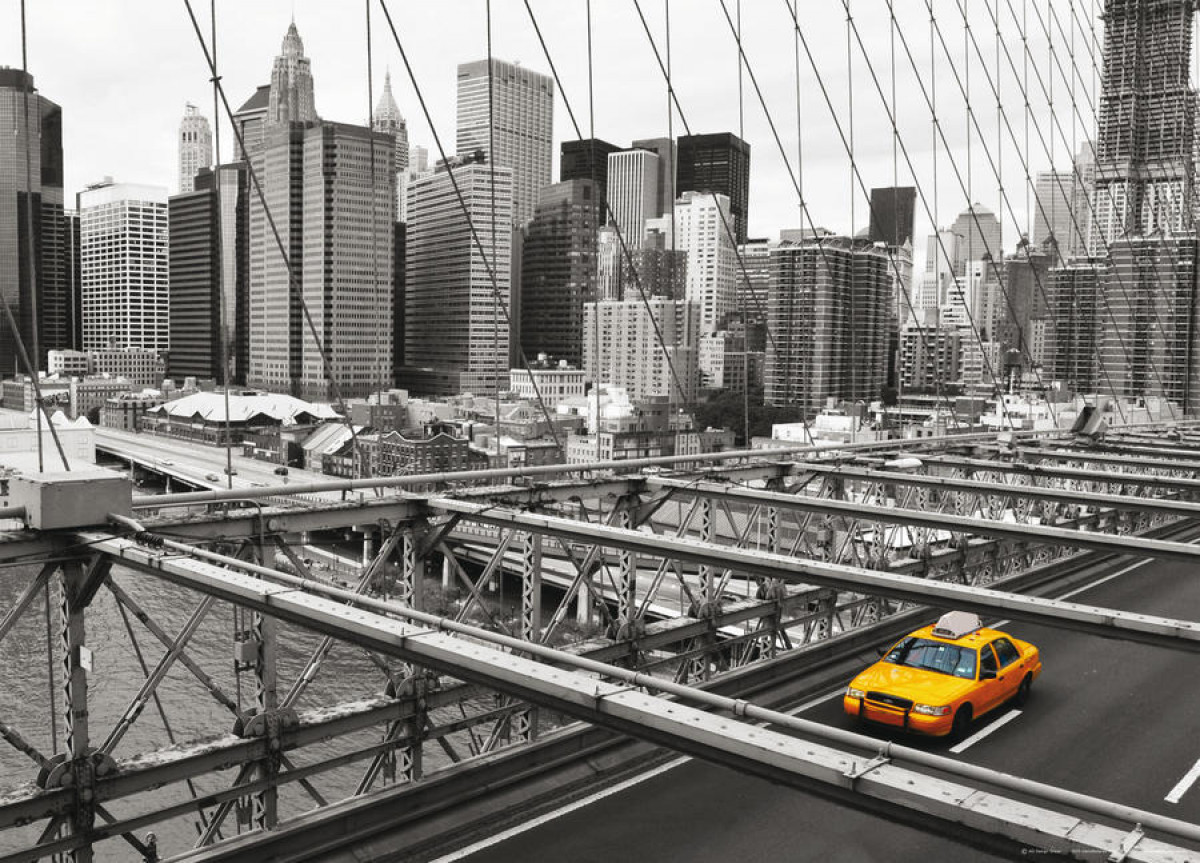New York taxi, photo murale, 160 x 115 cm, 1 part