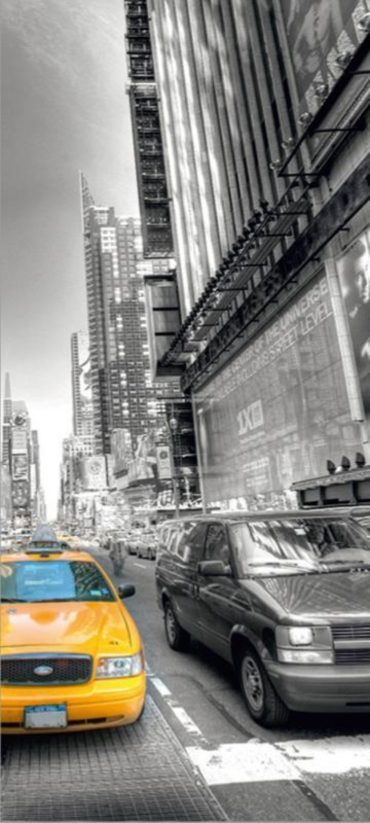 Taxi, paper photo mural, 90x202 cm, 1 part