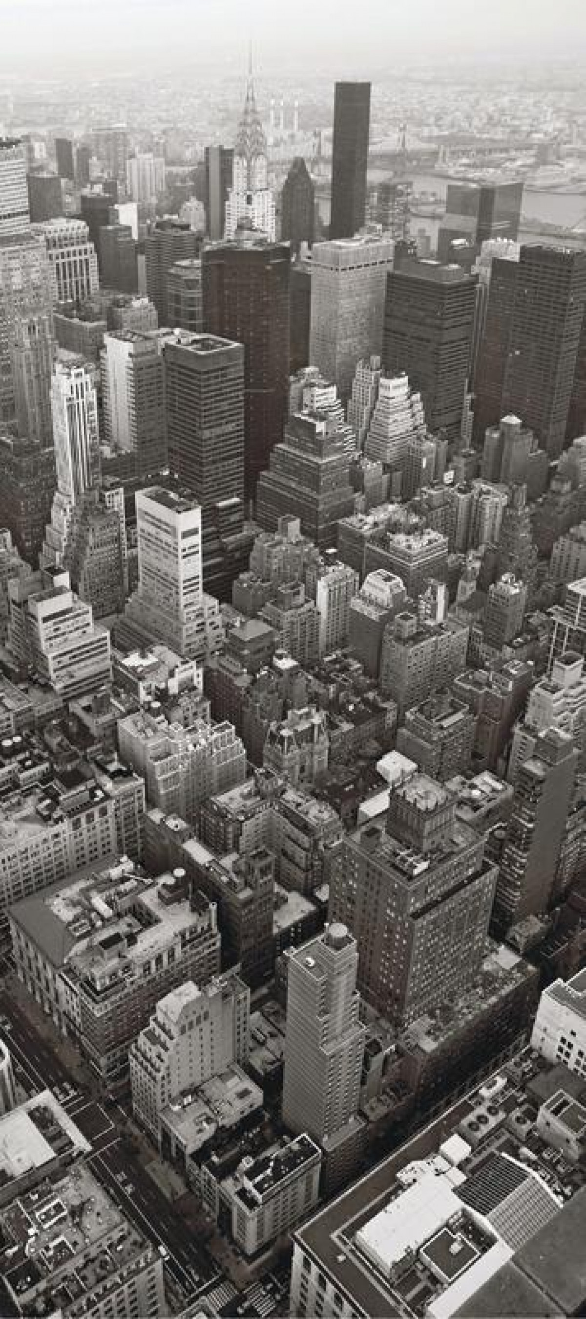 City from birds view, paper photo mural, 90x202 cm, 1 part