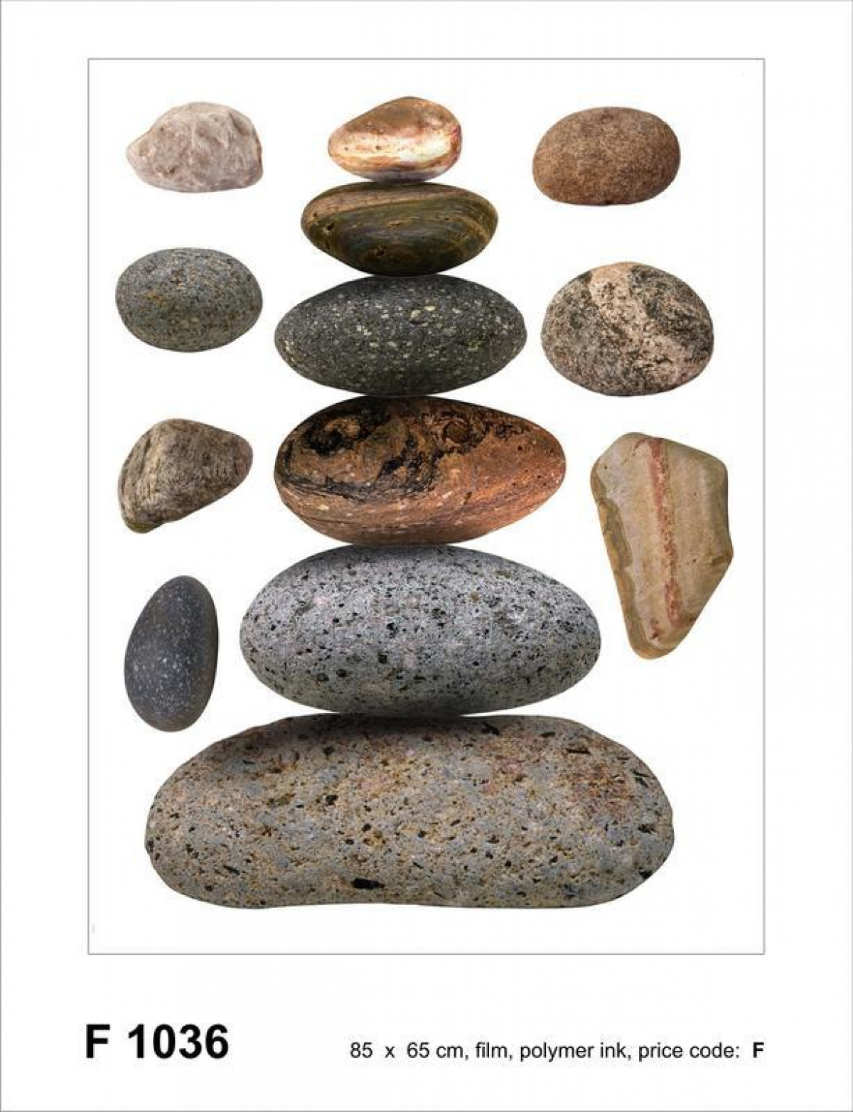 Stones, Grand sticker mural 65 x 85 cm