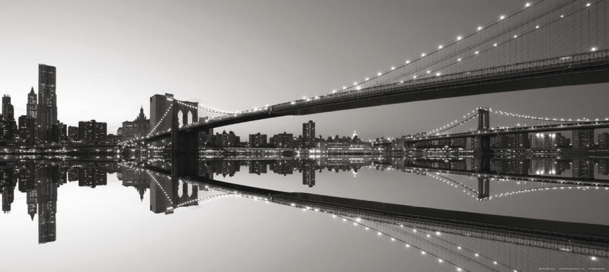 Brooklyn Bridge, photo murale intissée, 202 x 90 cm, 1 part