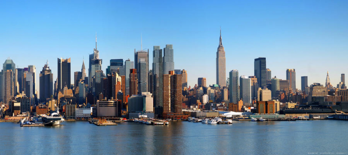 New York skyline. photo murale intissée, 202 x 90 cm, 1 part