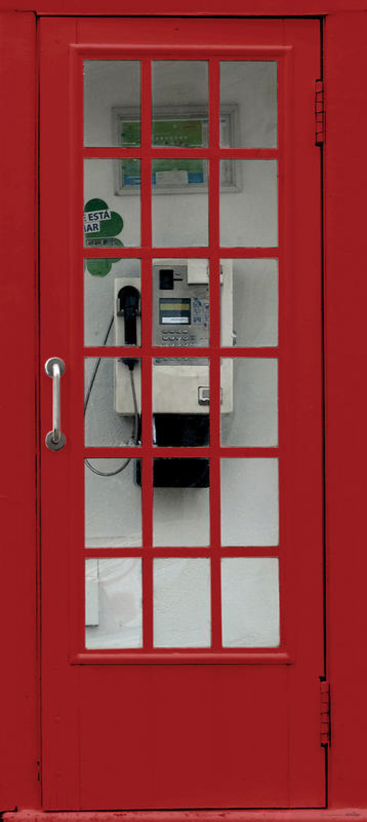Phone booth, intissé photo mural, 90 x 202 cm, 1 part