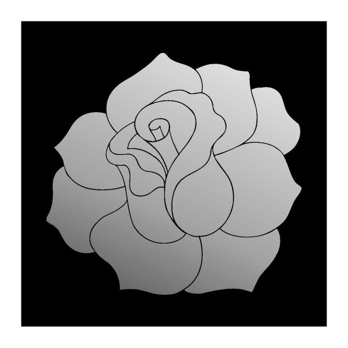 Decorative miroir rose, 60 x 60 cm
