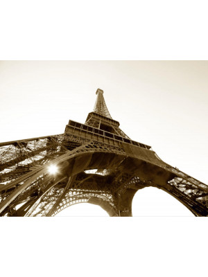 Eiffel tower black and white, photo murale, 360x254 cm, 4 parts