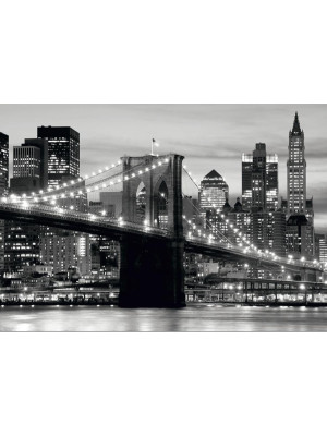 Papier Peint New York Brooklyn Bridge Noir & Blanc 360x254 cm
