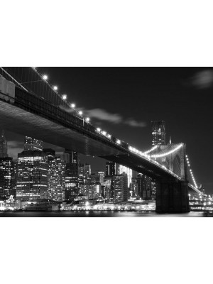 Papier Peint New York Brooklyn Bridge Noir Blanc 360x254 cm