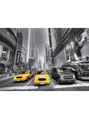 Yellow cab New York taxi, photo murale, 360x254 cm, 4 parts