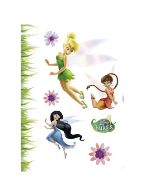 8 Stickers Fée Clochette repositionnable Disney fairies vue avec lit