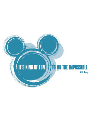 "Stickers Décoration Murale ""It's kind of fun"" Disney"