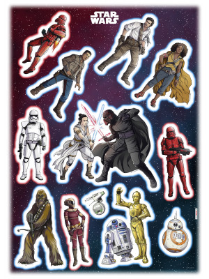 Stickers géant Héros Star Wars