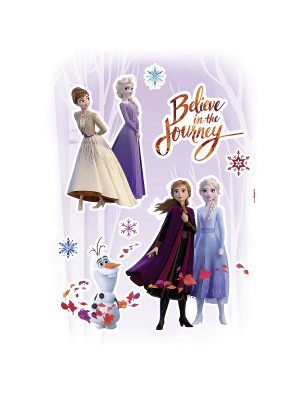 "Stickers Décoration Murale La Reine des Neiges ""Believe in the Journey"" Croire au Voyage Disney"