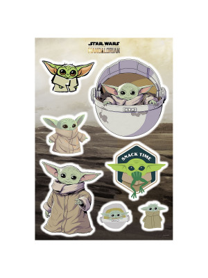 "Stickers Muraux géant Mandolorian Baby Yoda ""The Child Cluster"" Star Wars  50 x 70 cm"