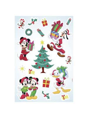 "Stickers Muraux Mickey Mouse ""Mickey Christmas Presents"" Cadeaux de Noël Disney"