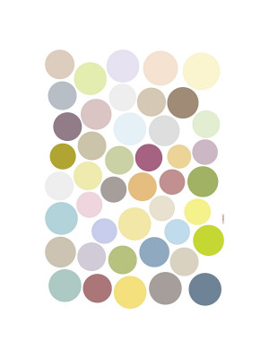 """Dots"" Sticker Décoration murale Points Multicolores - 50x70cm"