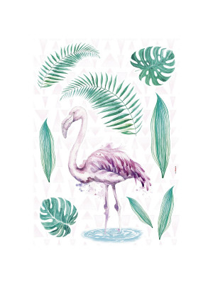 """Flamingo"" Sticker Décoration murale Flamant Rose - 50x70cm"