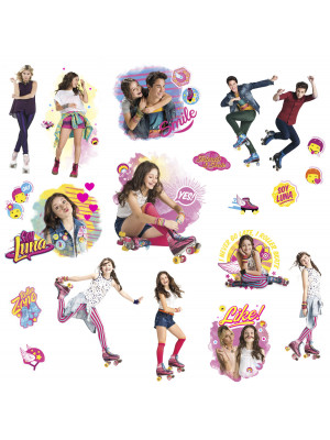 21 Stickers repositionnable Soy Luna