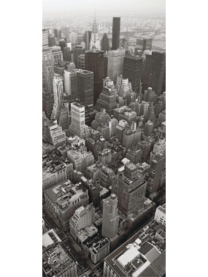 City from birds view, intissé photo mural, 90 x 202 cm, 1 part