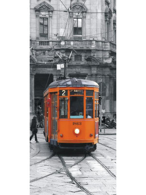 Tram, intissé photo mural, 90 x 202 cm, 1 part
