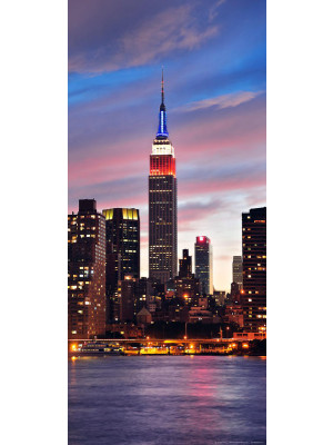 New York sunset, intissé photo mural, 90 x 202 cm, 1 part