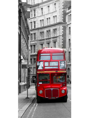 London bus, intissé photo mural, 90 x 202 cm, 1 part